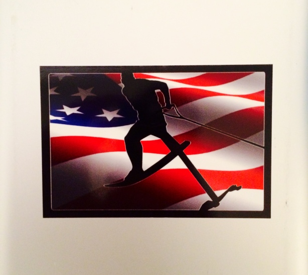 Show your spirit with this flag sticker